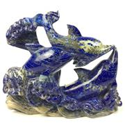 Sale 8758 - Lot 38 - Lapis Lazuli Carved Dolphins