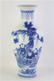 Sale 8802 - Lot 62 - A Blue and White Chinese Baluster Vase ( H 46cm)