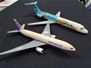 Sale 8809B - Lot 653 - Model Boeing 747 and Cebu Pacific Plane (wingspan 41cm largest)