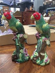 Sale 8822 - Lot 1798 - Pair of Ceramic Parrots