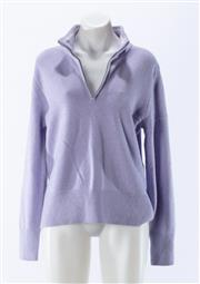 Sale 8910F - Lot 67 - A Lands-End pure cashmere zip-up pullover in lilac, S 10-12, as new with tags