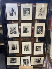 Sale 8924 - Lot 2047 - Set of (12) Cecil Beaton Photos from Electa Editrice Portfolio, each 42 x 32cm (frames)
