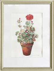 Sale 8964 - Lot 2041 - Belinda Black Still Life - Flowerswatercolour, 80 x 64cm (frame), signed lower right