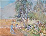 Sale 8992 - Lot 589 - Arthur Legge (1859 - 1942) - Field Workers, Mallorca 1926 22.5 x 29.5 cm (frame: 42 x 52 x 2 cm)