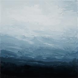 Sale 9125 - Lot 519 - Sokquon Tran (1969 - ) Highlands Landscape oil on Belgian linen 48.5 x 48.5 cm (frame: 51 x 51 x 5 cm) signed lower left