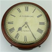 Sale 8387 - Lot 3 - Angelo Tornaghi Wall Clock from Forbes Land Board Office