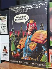 Sale 8421 - Lot 1001 - Vintage and Original THE FINK BROTHERS MUTANTS IN MEGA CITY ONE by Bolland Promotional Poster (148cm x 100cm)