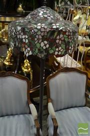 Sale 8472 - Lot 1074 - Leadlight Shade Standard Lamp