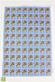 Sale 8521 - Lot 62 - Complete set of 80 Chinese Year of the Tiger stamps (80)