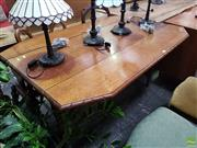 Sale 8601 - Lot 1475 - Oak Dropside Table with Barley Twist Supports
