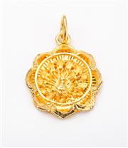 Sale 8414A - Lot 56 - A 22 carat pendant with bird of paradise motif approx. weight 11gms, drop 2.5cm