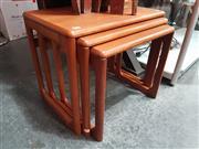 Sale 8705 - Lot 1053 - Danish Teak Nest of Tables