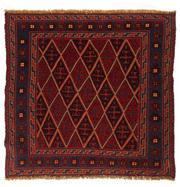 Sale 8715C - Lot 186 - A Persian Meshvani Village Rug, Wool On Cotton Foundation Classed As Tribal Sumak, 114 x 105cm