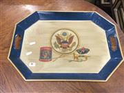 Sale 8822 - Lot 1797 - American Hand Painted Tray