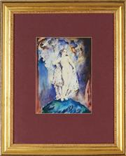 Sale 8888 - Lot 2003 - Artist Unknown The Dear Things (After Norman Lindsay) watercolour 21 x 15.5 cm, unsigned -
