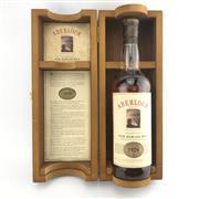 Sale 8875W - Lot 48 - 1x 1970 Aberlour Highland Single Malt Scotch Whisky - bottled 1991, evaporative losses, 43% ABV, 700ml in timber presentation box