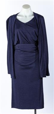 Sale 9003F - Lot 84 - A Toorallie, Navy Blue Skirt, Top and Cardigan in bamboo and Merino wool, Size 12