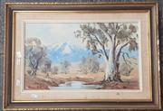 Sale 9019 - Lot 2092 - Norma Kett, Landscape, oil, 29.5x49.5cm
