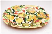 Sale 9060 - Lot 45 - Morris Exotique A Signed Hand Painted Fruit Platter By Sue Gascoigne (L 47cm W 39cm)