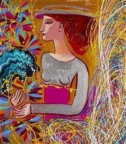 Sale 9081A - Lot 5096 - Constantine Popov (1965 - ) - Portrait of a Woman 48.5 x 43.5 cm (frame: 71 x 66 x 5 cm)