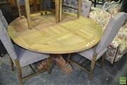 Sale 8390 - Lot 1492 - Recycled Oak Round Dining Table