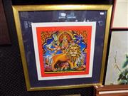 Sale 8429A - Lot 2070 - David Macay - A Regal Indian Feast - Leo, limited edition print, 38 x 38cm, signed lower right