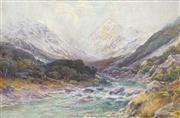 Sale 8467 - Lot 571 - John McIntosh Madden (1856 - 1923) - Mount Cook, New Zealand 34 x 55cm
