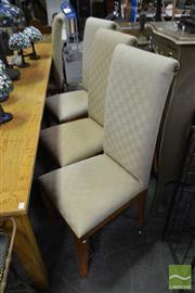 Sale 8489 - Lot 1089 - Set of 8 High Back Upholstered Dining Chairs -