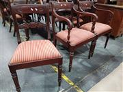 Sale 8697 - Lot 1070 - Set of Eight Regency Mahogany Dining Chairs inc Two Carvers