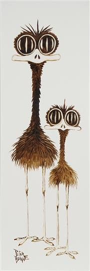 Sale 8722 - Lot 578 - Peter Browne (1947 - ) - Annie & Alice 91.5 x 30.5cm
