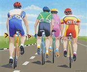 Sale 8764 - Lot 528 - Richard Maurovic (1963 - ) - Bicycle Riders II, 2000 59.5 x 71cm