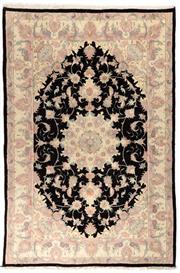 Sale 8780C - Lot 241 - A Persian Tabriz Fine Wool And Silk Inlaid, 238 x 157cm