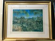 Sale 8776 - Lot 2004 - Kevin Charles Pro Hart (1928 - 2006) - Untitled Print 43 x 58cm (frame: 74.5 x 90cm)