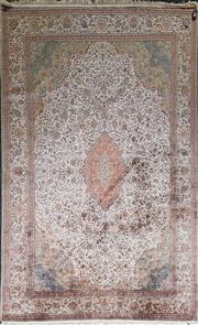 Sale 8831 - Lot 1005 - Fine Kashmiri Silk Carpet (355 x 238cm)