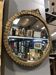 Sale 8893 - Lot 1057 - Round Gilt Framed Mirror