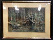 Sale 8949 - Lot 2023 - Artist Unknown - American Forest, pastel, SLR