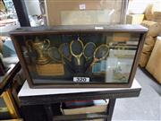 Sale 8360 - Lot 93 - The History of the Tennis racket  cased set.