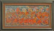 Sale 8363 - Lot 579 - Sybil Craig (1901 - 1989) - Buddhist Priests 30 x 65cm