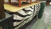 Sale 8390 - Lot 1532 - French Zebra Print 2 Drawer Sideboard