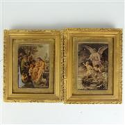 Sale 8393B - Lot 69 - Early Reverse Religious Prints