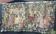 Sale 8444 - Lot 1008 - French Tapestry Panel, by Points DHalluin, of a grape harvest & wine making