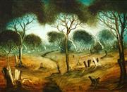 Sale 8565 - Lot 557 - Kevin Charles (Pro) Hart (1928 - 2006) - The Stumps 45 x 60cm