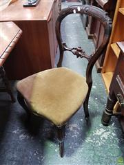 Sale 8601 - Lot 1477 - Pair of Carved Balloon Back Dining Chairs with Cabriole Legs to Front