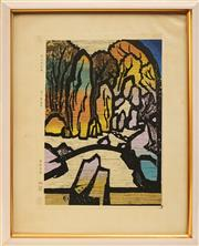 Sale 8678 - Lot 2011 - Japanese School - Untitled (Landscape) 39.5 x 29cm