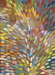 Sale 8743 - Lot 550 - Gloria Petyarre (c1945 - ) - Bush Medicine Leaves 205 x 151cm (stretched and ready to hang)