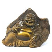 Sale 8758 - Lot 40 - Tigers Eye Carved Buddha
