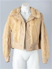 Sale 8828F - Lot 21 - A Tourmaline Mink And Leather Blouson Jacket By Hammerman Furs, Size Medium