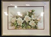 Sale 8949 - Lot 2027 - Sue Bursall - Pale Pink Roses, watercolour, SLR