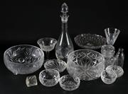Sale 9003 - Lot 68 - A Selection of Cut Glass and Crystal Ware inc Decanter and Comport