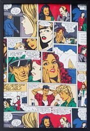 Sale 9011 - Lot 2080 - Pop Art Style Print, 73 x 53cm (frame)